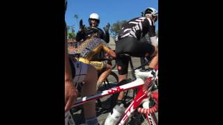 Cop Pulls Over a Group of Cyclists