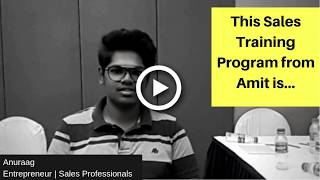 Sales Training Program in Hyderabad by Amit Sharma