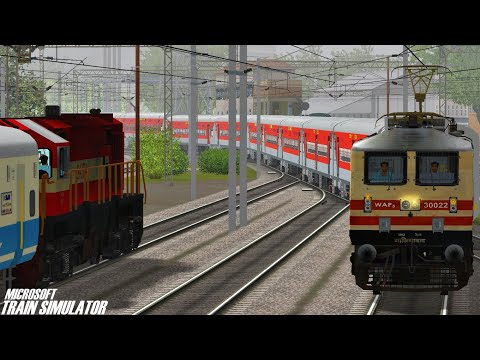 Allahabad - New Delhi Prayagraj Superfast Express | GZB WAP5 | MSTS Open Rails Journey Part 1