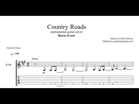 Burns Ernst Country Roads Tab Guitar Instrumental Tab Pdf
