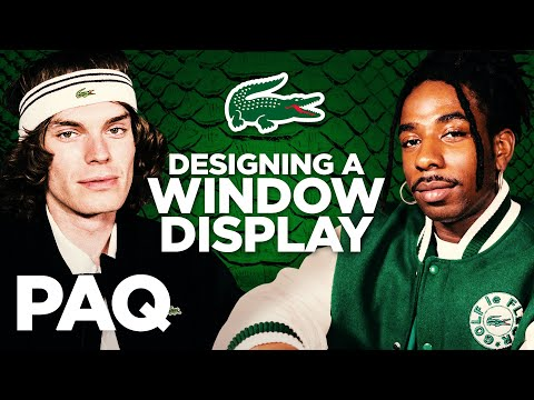 Designing Window Displays With Lacoste!