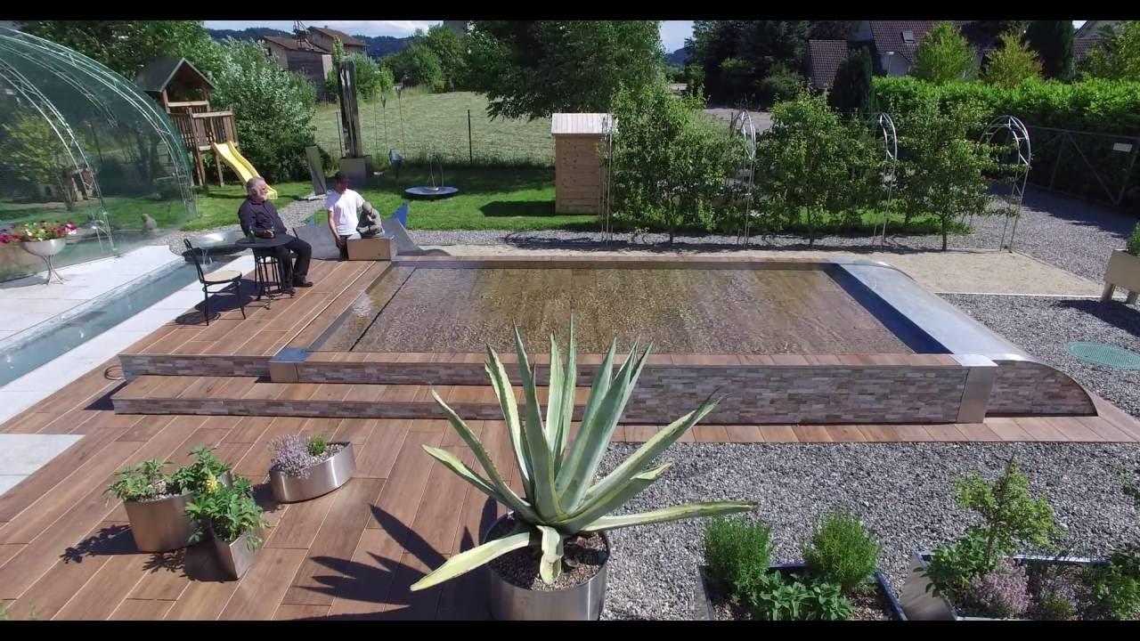 Versenkbarer Pool hubboden pool chrom line ag
