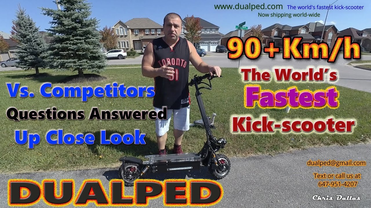 World's Fastest E-scooter Dualped Up Close & Questions Answered..90+km/h