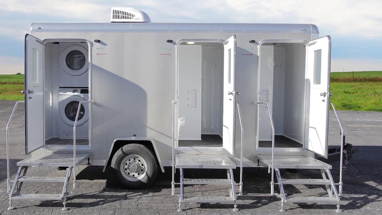 2 Station Combo Shower Trailer  Laundry Trailer