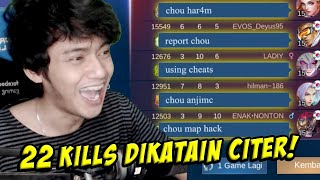 22 KILLS GAK MATI DISANGKA CHEAT! - MOBILE LEGENDS