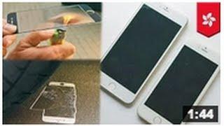 TEST IPHONE 6: Vidéos; un test sur le nouvel écran de l'iphone 6 fait en cristal de saphir
