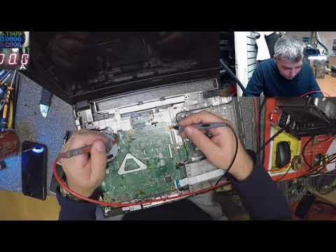 Dell inspiron 15 3000 series, Wine damage, motherboard repair