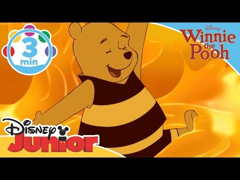 The Mini Adventures of Winnie the Pooh |  The Honey Song | Disney Junior UK