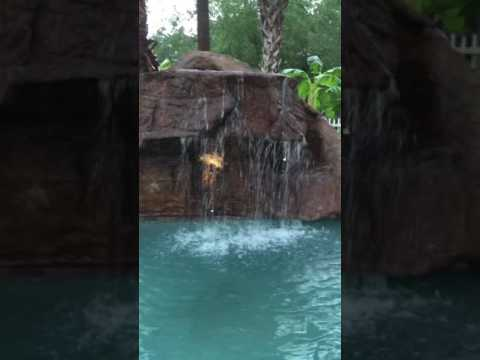 Gotts landscaping and supplies custom pool waterfall