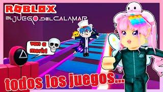 JUEGA TODOS LOS MAPAS JUEGOS DEL CALAMAR ¡MOMENTOS DIVERTIDOS! OBBY CRISTAL   ROBLOX SQUID GAME