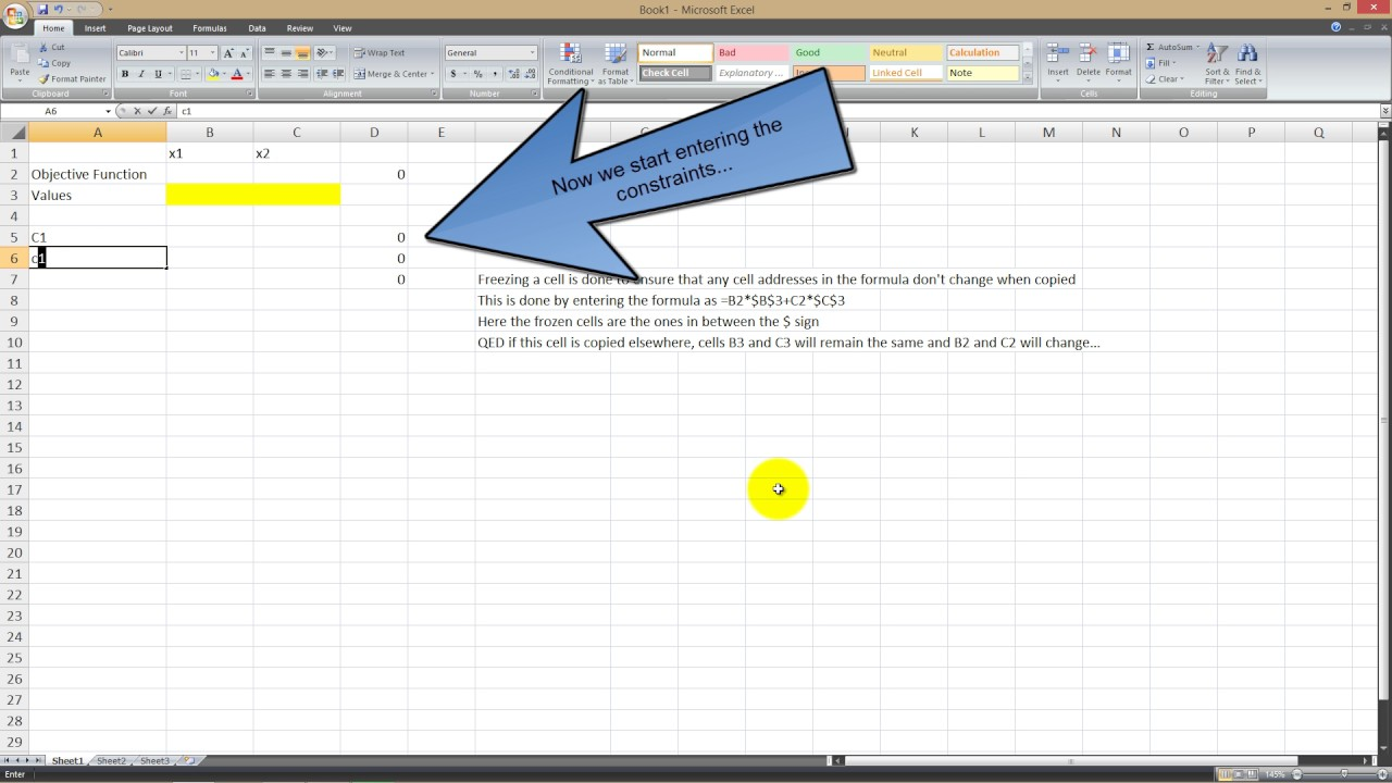 Excel Solver Tutorial - Simplex - YouTube