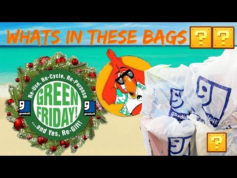 Goodwill Green Friday Black Friday Haul Whats in these Bags