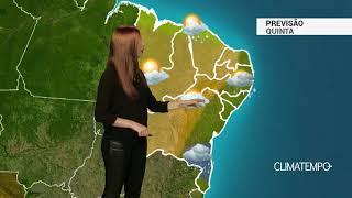 Previsão Nordeste - Tempo instável no litoral leste