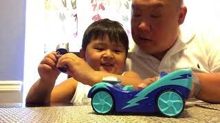 Matt's playtime. Toys review Disney PJ Masks Cat Boy Car Speed Booster