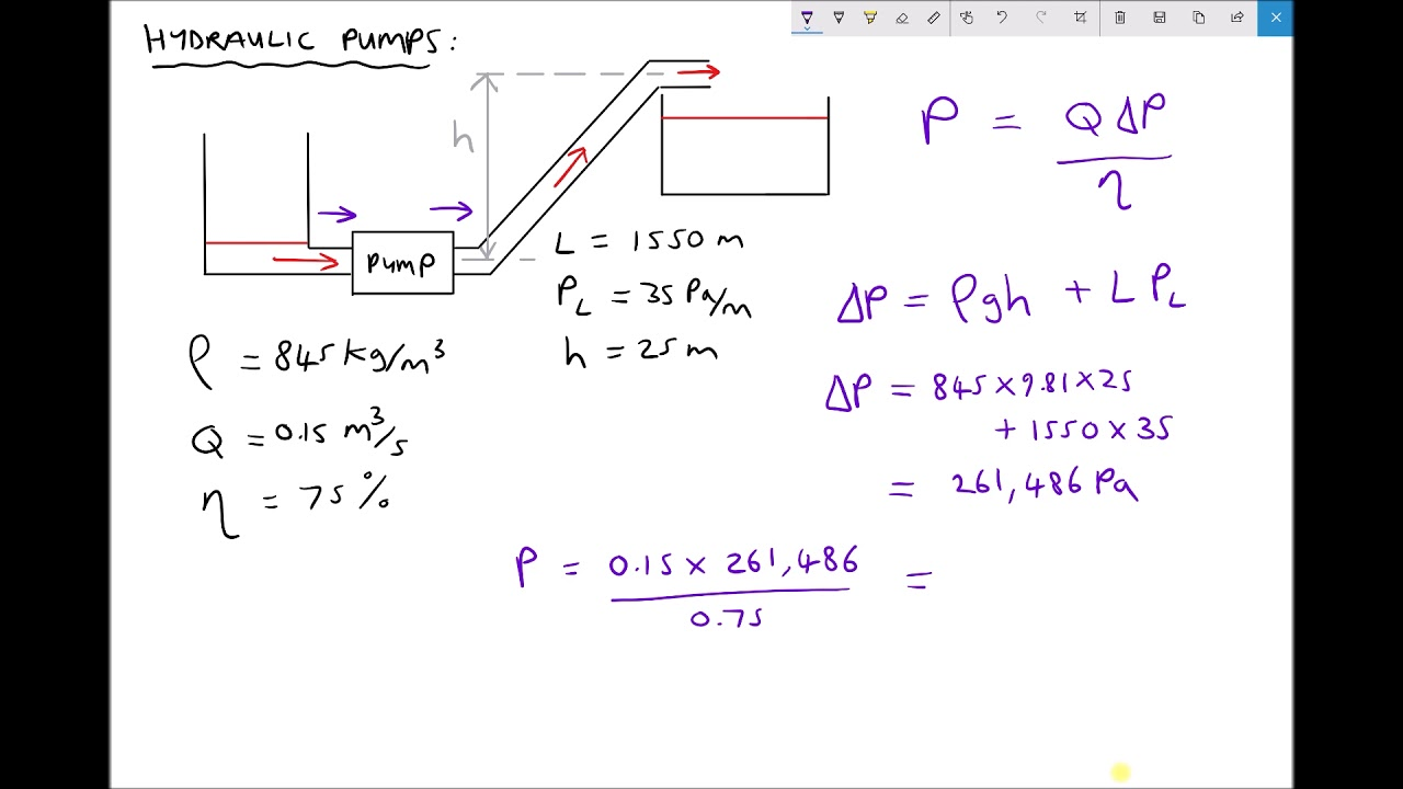 Calculating Pump Delivery Pressure And Power Consumption Youtube