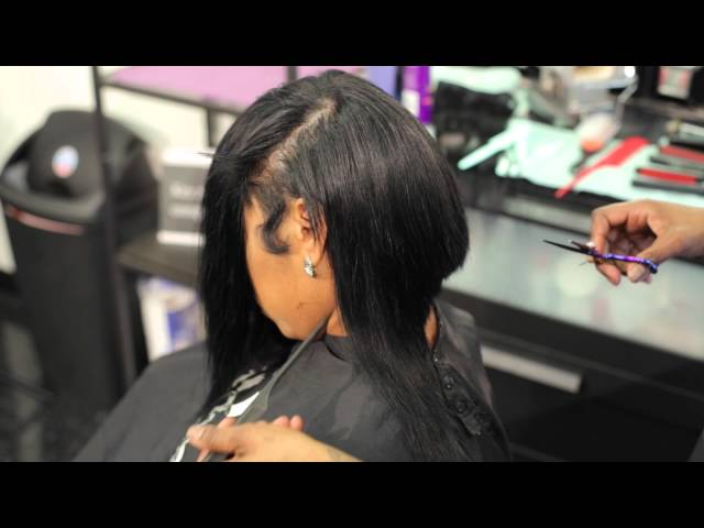 How To Cut A Deep Part Bob With Layers Crazyaboutangel Youtube