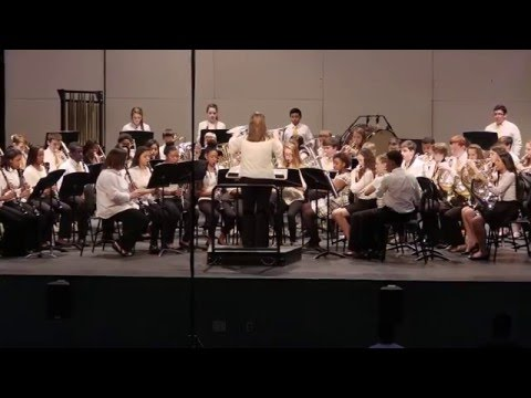 Sampson MS 8th Grade Band - Gold Medal March - Paul Murtha