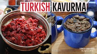How To Make Turkish Kavurma / Cooked Meat Log
