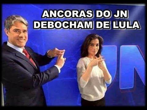 9bd3ec3904 RENATA VASCONCELLOS E WILLIAM BONNER ANCORAS DO JN DEBOCHAM DE LULA ...