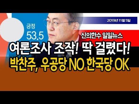(일일뉴스) 여론조사 조작! 딱 걸렸다! 박찬주 대장, 우공당 안 간다! / 신의한수 19.11.05