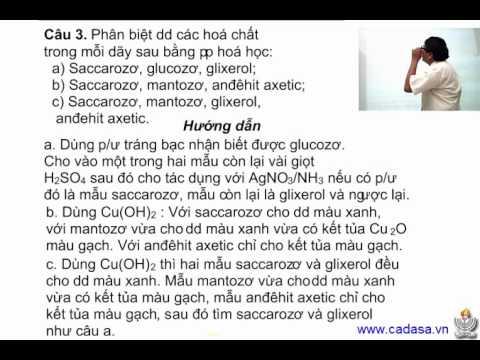 Bài giảng môn Hóa lớp 12 - Bài tập áp dụng Saccarozơ - Cadasa.vn