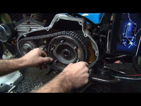 1972 XL Ironhead Bobber #108 Sportster clutch primary motor repair harley by tatro machine