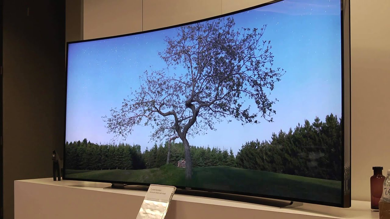 ces 2014 samsung bendable oled tv 105 inch 21 9 curved led tv and more youtube. Black Bedroom Furniture Sets. Home Design Ideas