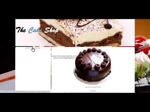 Online Cake Shop System