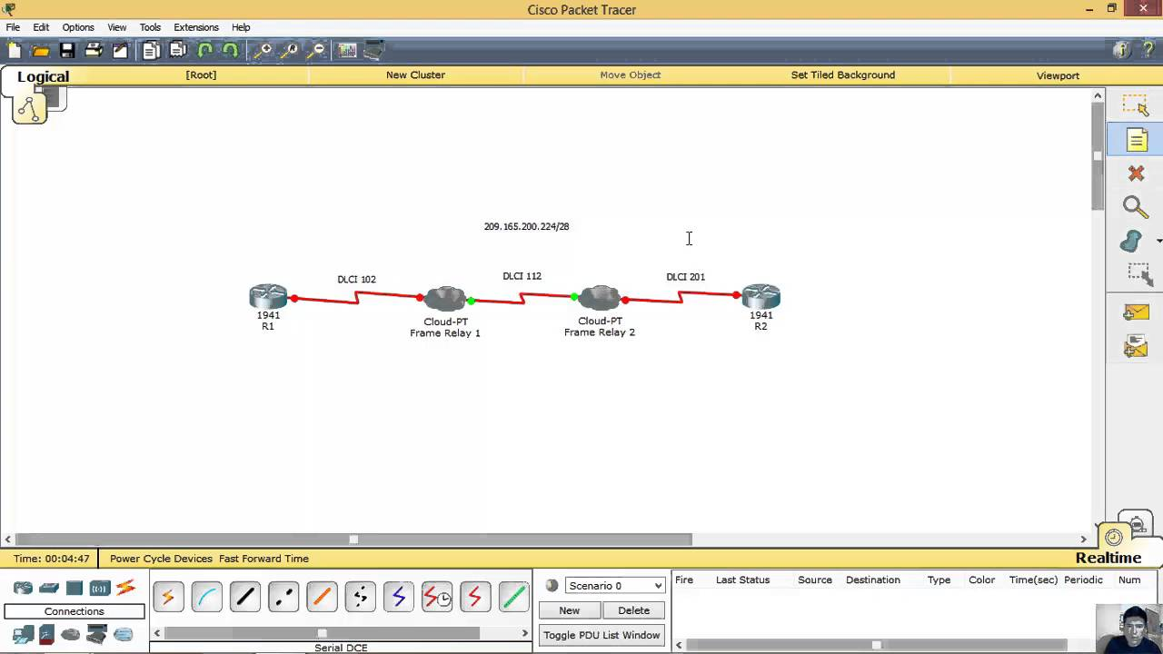 Two Frame Relay Switches on Packet Tracer - Dos Switches Frame Relay ...