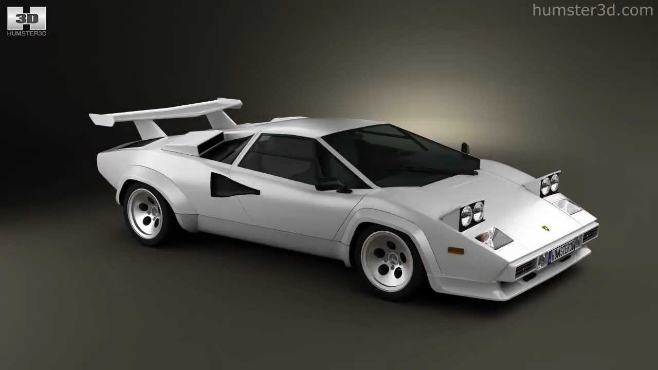 Lamborghini Countach 5000 Qv 1985 By 3d Model Store