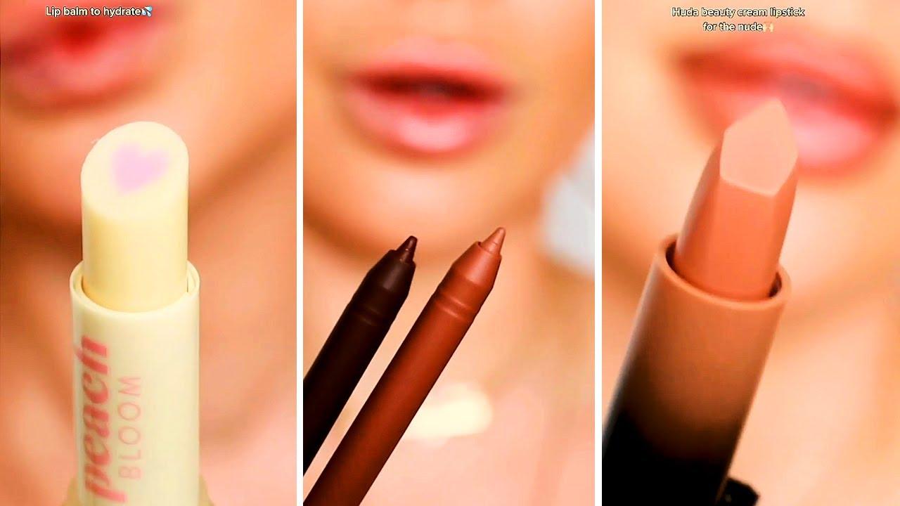 Stunning Lipstick Tutorials And Full Face Makeup Looks Compilation 2021