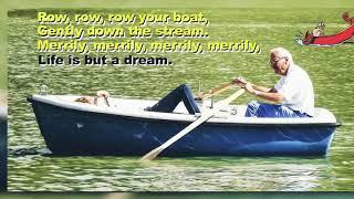 Row Row Row your boat gently down the stream lyrics || kid's learning || teaching kid's ||
