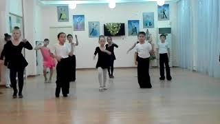Контрольный урок по бальным танцам , вариация  джайв.