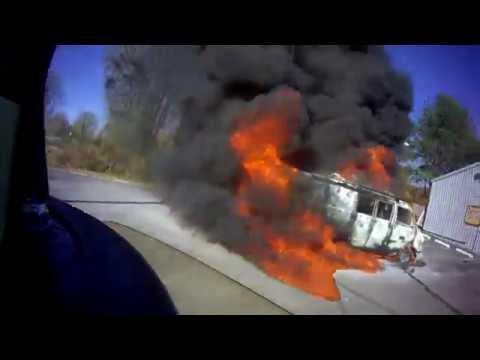 BVFD - Working Vehicle Fire  *Helmet Cam*