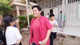 Cảnh hậu trường tiểu phẩm phòng chống ma túy 10A1 THPT Trần Văn Ơn