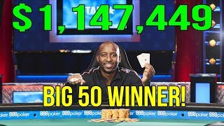 From $500 to $1,147,449 - Femi Fashakin WINS the Big 50!
