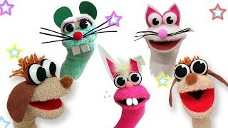 How to make Animal sock puppets - Ana   DIY Crafts