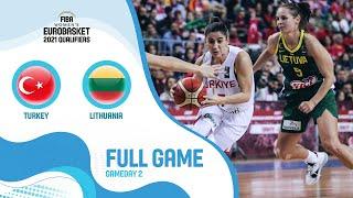 Turkey v Lithuania - Full Game - FIBA Women's EuroBasket Qualifiers 2021