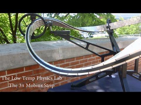 Superconducting Quantum Levitation on a 3π Möbius Strip