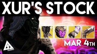 Destiny Xur March 4th - Xur's Location & Stat Rolls | Destiny The Taken King Exotics
