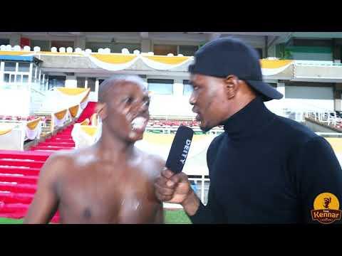 KENYAN ATHLETES DURING INTERVIEWS