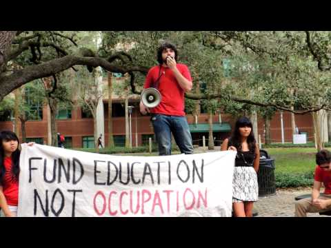 Tampa Bay area college student lashes out against imperialism in U.S. Occupation: WMNF News