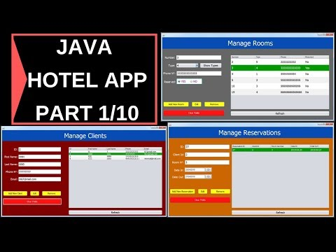 Java Project Tutorial - How To Make a Hotel Management System Project In  Java NetBeans   Part 1/10