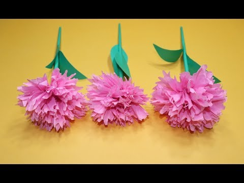 How to Make Beautiful Flowers with Tissue Paper   Stick Paper Flower   Tips for Making Paper Flowers