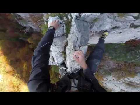 [Multipitch sport climbing] Arete Du Faucon, Jura in Switzerland
