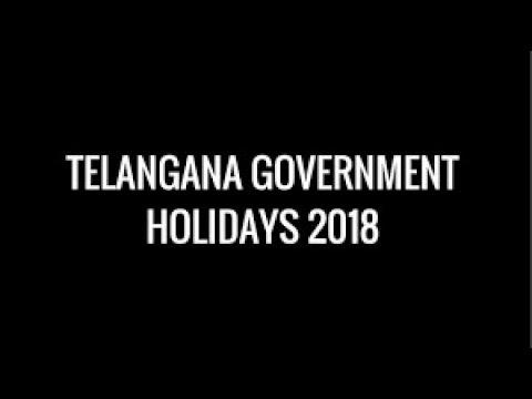 TELANGANA GOVT  LIST OF GENERAL/OPTIONAL HOLIDAYS IN 2018