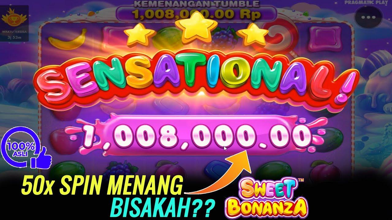 Spin Cepat Slot Sweeet Bonanza Menang Sensasional dalam 50 kali Spin - Pragmatic Play - YouTube