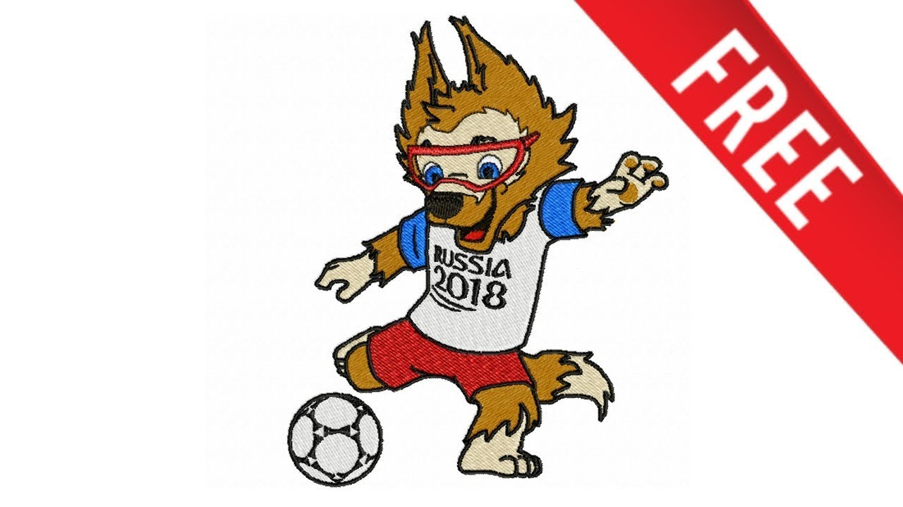 Matris Bordado Mascote Copa 2018 Lobo Zabivaka Gratis Youtube