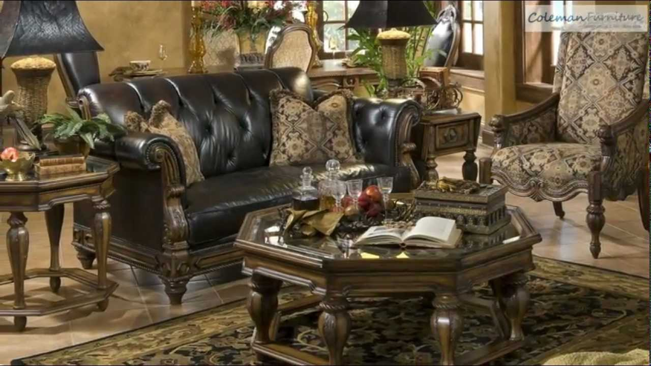 vizcaya living room collection from aico furniture youtube. Black Bedroom Furniture Sets. Home Design Ideas