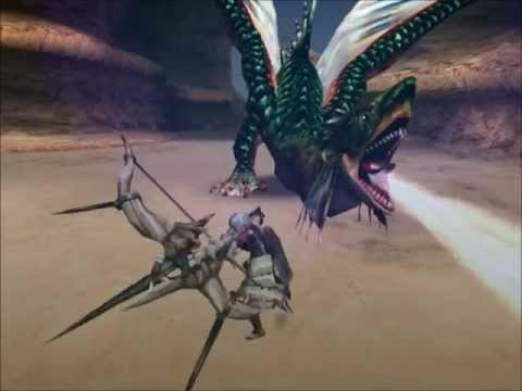 Monster Hunter 2 DOS (PS2) Green Plesioth vs Bow